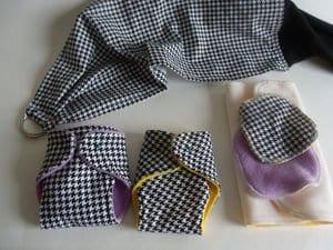 doll diaper set