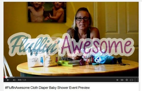 #fluffinawesome video, cloth diapers