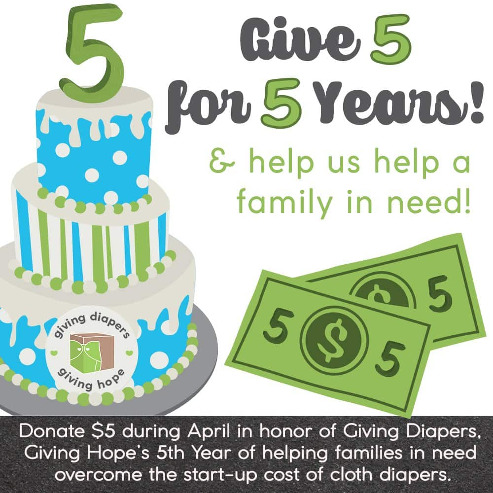 give 5 for 5 fundraiser
