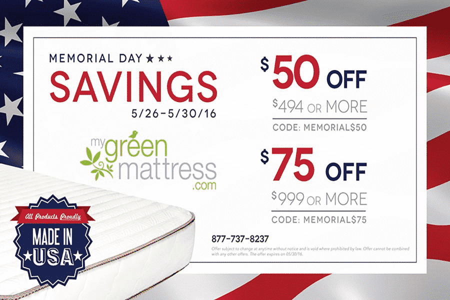 my green mattress sale