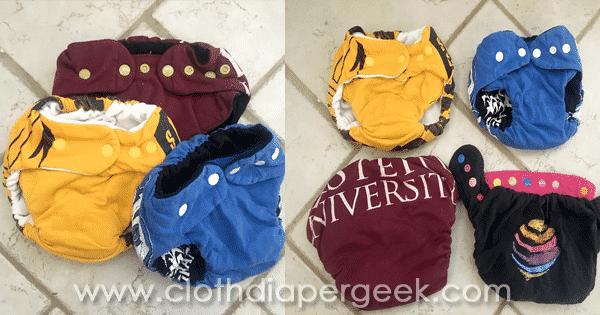 DIY tshirt cloth diapers
