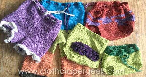 DIY knit wool diaper covers