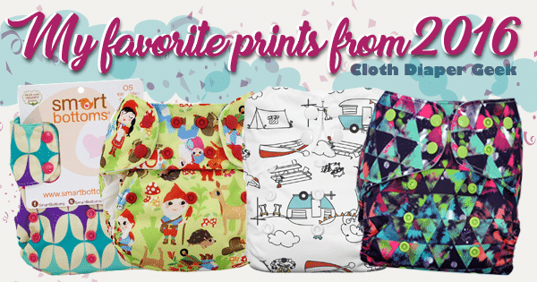 My Favorite Cloth Diaper Prints from 2016!