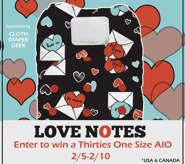 Love Notes One Size AIO Cloth Diaper Giveaway {2/5-2/10}